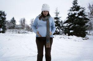 Winter pregnant woman