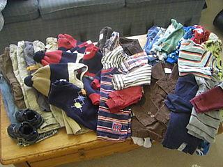 Garage sale kids clothes