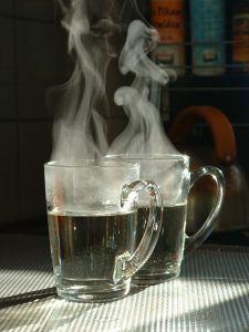 Steaming mugs