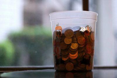 Pennies in jar